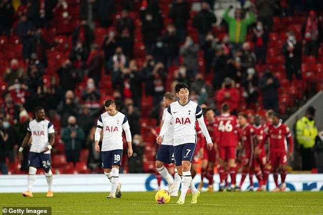 At Anfield, Spurs were very limited and had two shots on target the entire game