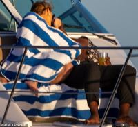 Chrishell Stause and Keo Motsepe lock lips on boating double date with Gleb Savchenko