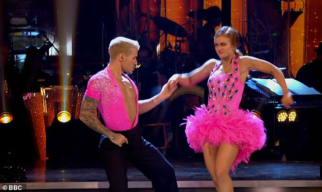 Fire! Soap star Maisie and Gorka Marquez were the fourth couple to dance their Judges Choice, and took to the floor with their carnival-themed Samba to Conga by Gloria Estefan