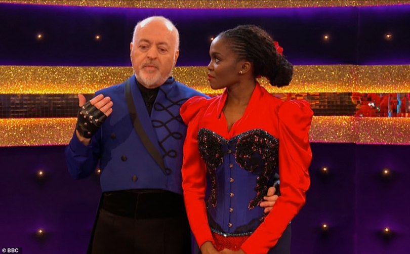 Moving: The duo received their first ever 30 for the performance, and the first perfect score of the evening, with Bill fighting back tears as he vowed the dance was a symbol of the nation carrying on during such unprecedented times