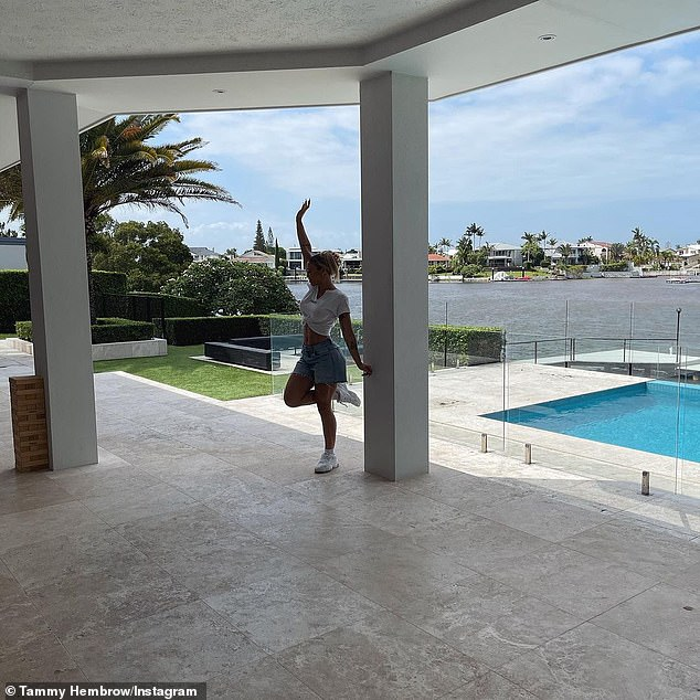 'Feeling so grateful': Tammy thanked her 11.8million followers for helping buy the mansion
