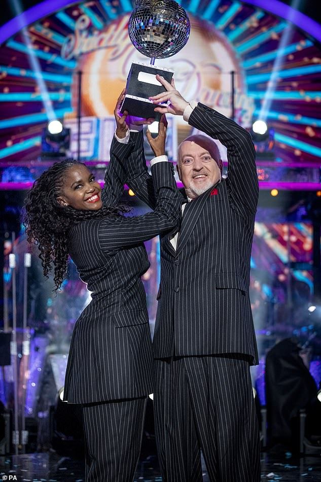 Wahay!Bill Bailey and Oti Mabuse were crowned the winners of the programme during the show