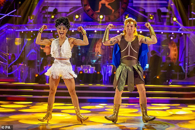 Final four: Finalists Jamie Laing and Karen Hauer raised the roof with energetic performances