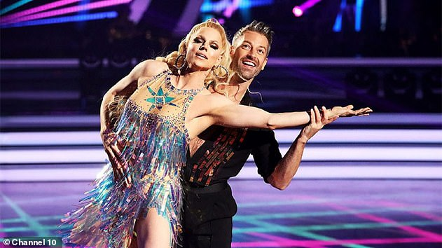 Pictured: Possible appearances from notable former contestants such as Kerri-Anne Kennerley, Nikki Webster and Pauline Hanson could be on the slate, too. Pictured: Contestant Courtney Act (left) with dance partner Joshua Keefe (right)