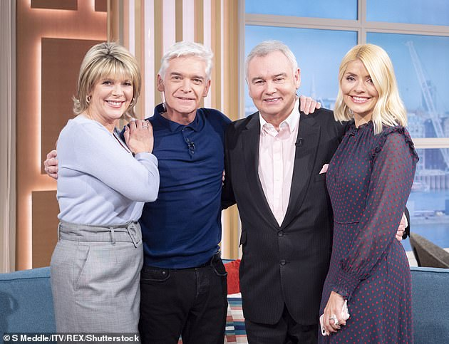 Awkward:There has been long-running speculation about a rift between the married couple and Phil, as it was reported earlier this year that Ruth had made a formal complaint about Phil