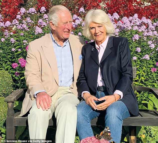 Was Camilla's choice of jeans to wear in her and Prince Charles's Christmas card (pictured) a ploy not to appear too showy amid a pandemic?