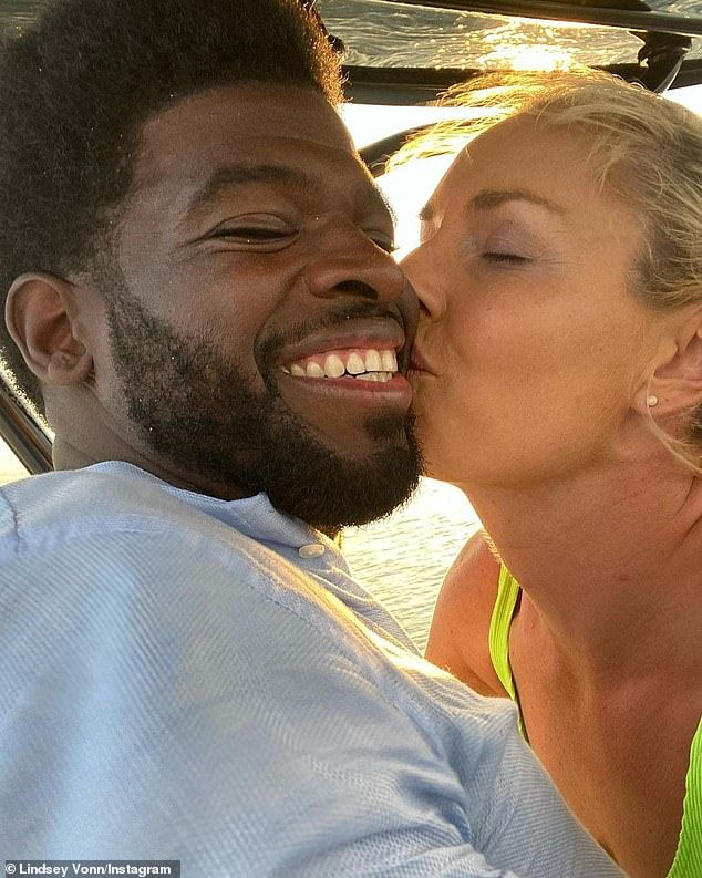 Loved up: The Olympian is engaged to NHL hockey player P.K. Subban; seen on Instagram