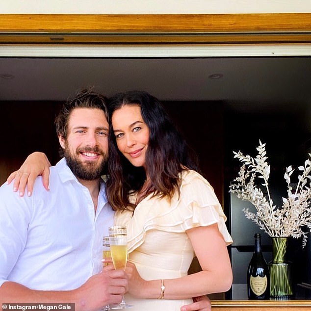 'It has given us some ideas':Megan said working on Australia's Best House had inspired her and fiance, Shaun Hampson, to 'take the design elements to the next level' when renovating their Melbourne home in 2021