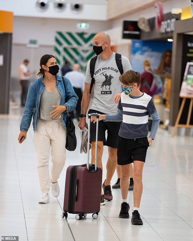 Just in time!Nova host Ryan 'Fitzy' Fitzgerald and his family fled Sydney for Adelaide just hours before new rules were introduced amid the coronavirus surge