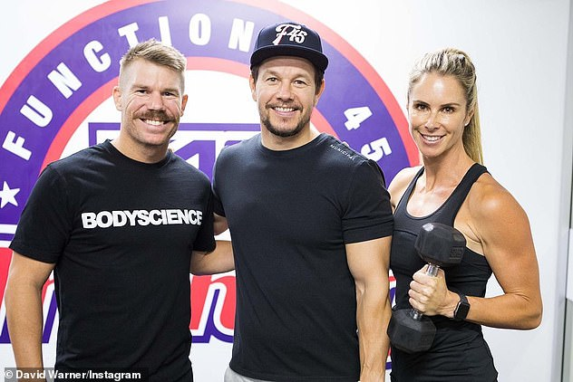 Starstruck: Among the celebrities at the session were David Warner, 34, and his wife Candice, 35. All pictured