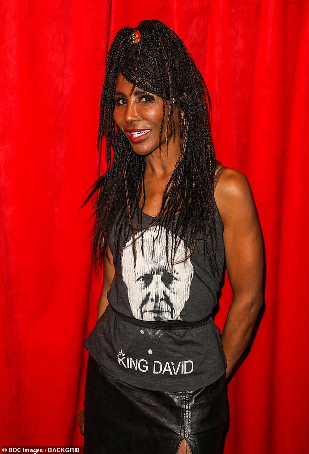 Healthy: Sinitta, who is joining Simon and his family for a Christmas break in Barbados, has revealed that he has been walking five miles a day and cutting down in cigarettes
