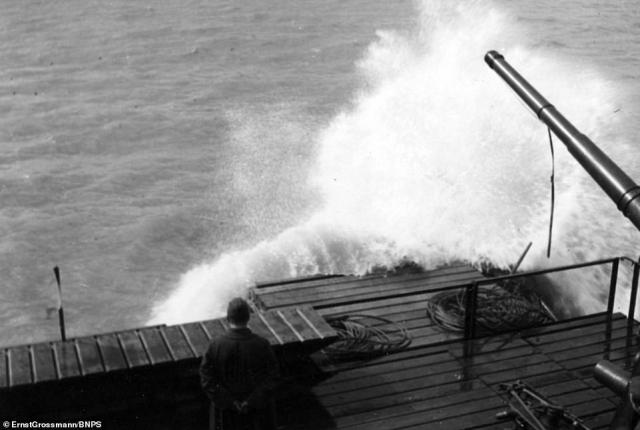 Waves break over the craft at sea.Plans for a German invasion of Britain were first mooted in November 1939, two months into the war