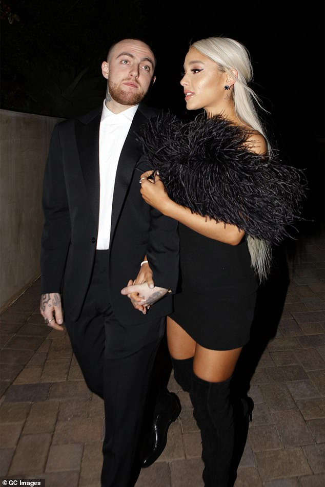 Tragic passing: Her relationship with Davidson fell apart after her boyfriend of two years Mac Miller tragically overdosed in September 2018; pictured March 2018