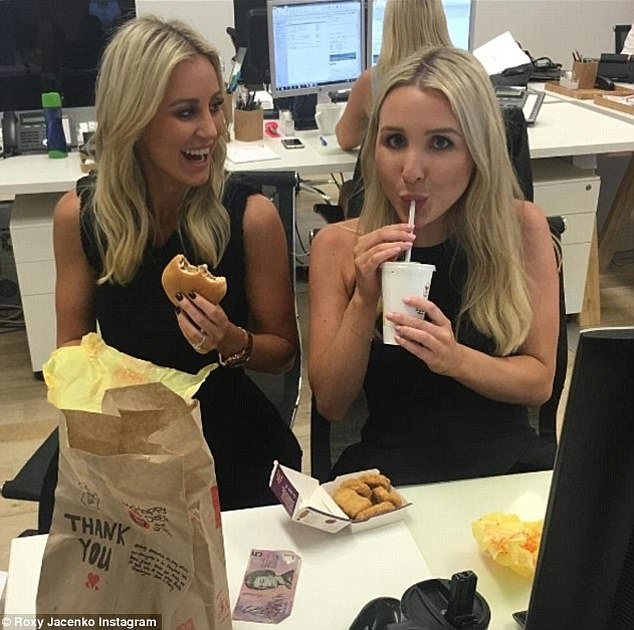 Speaking out: Holly Asser (right), one of Roxy Jacenko's (left) former Sweaty Betty PR 'clones' and her right-hand woman for five years, has broken her silence on her departure from the firm