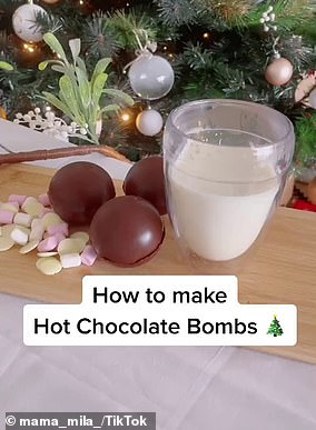 Chantel shared her simple recipe for hot chocolate bombs (pic)