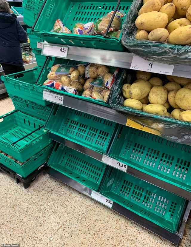 The Morrisons store in Liverpool is also seeing stocks reduced by the large numbers of shoppers coming through their doors