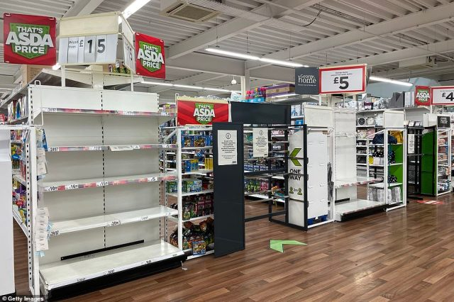 Aisles of toys are unavailable for sale in an Asda supermarket in Wales as they are deemed a 'non-essential' item
