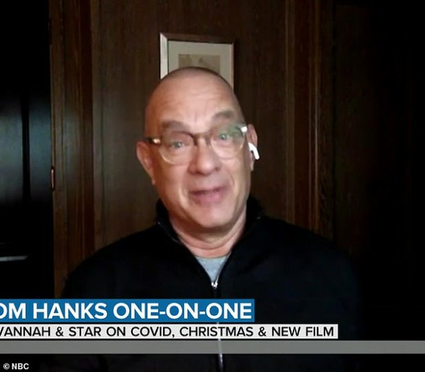 Hanks appeared promoting his latest film News of the World, which debuts Christmas Day on Netflix
