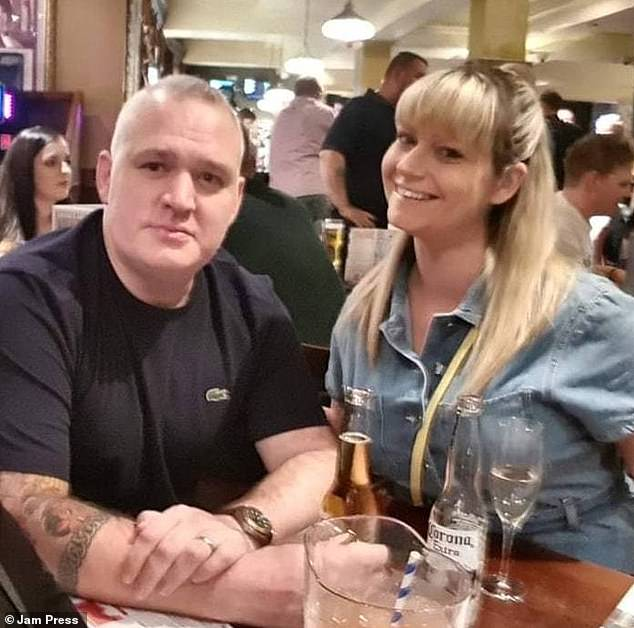 Claire Frost (pictured with husband Terry) has shared the hilarious moment she found a mouse inside her T-shirt while she was on the toilet