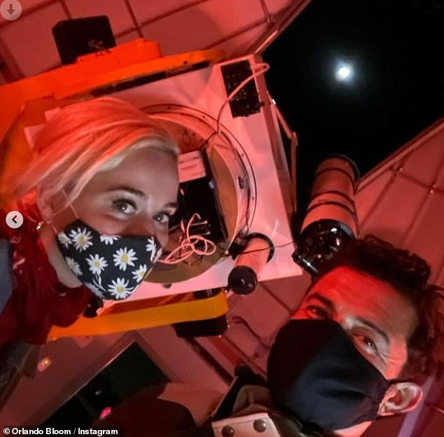 Stars stargazing:Orlando Bloom and Katy Perry enjoyed a romantic night of stargazing on Monday, joining thousands of others in spotting the Grand Conjunction