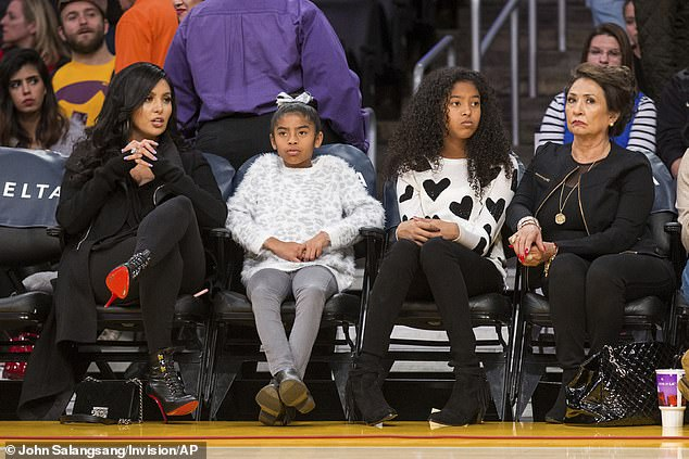 Family conflict:The newest photos come not long after Vanessa revealed she had been sued by her mother Sofia, who claimed Kobe had promised to take care of her for the rest of her life