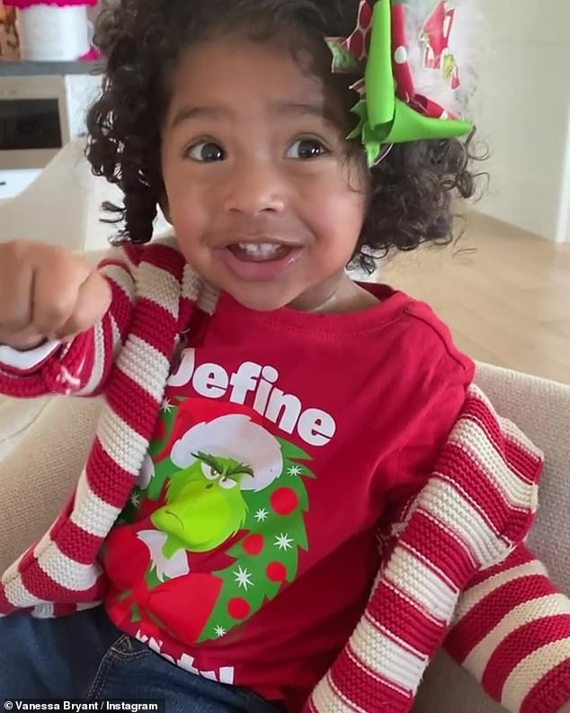 Happy holidays! Bryant has been showering her Instagram account with family photos