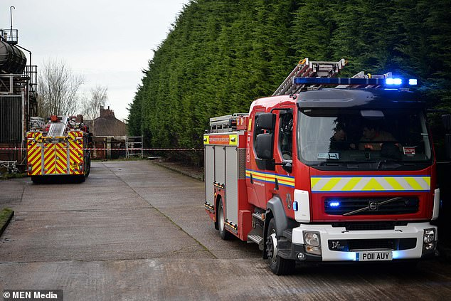 Firefighters from Irlam and Cheshire responded immediately and have established a cordon