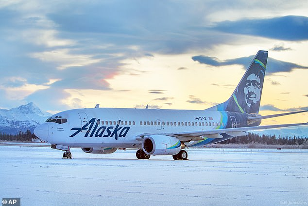 A passenger on board the Alaska Airlines flight, who did not speak Arabic, reported Abobakkr's message to a friend as suspicious (stock image)
