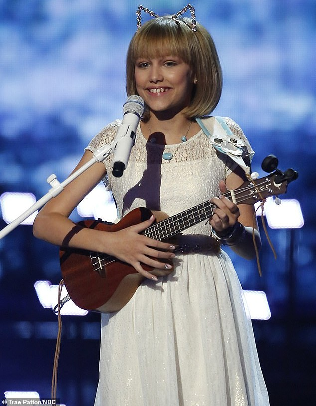 Flashback:Grace rose to fame as the winner of American's Got Talent in 2016 when she was just 12