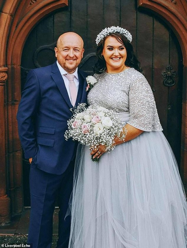 Toni Standen, 29, (pictured with her husband James) had her dream wedding and a honeymoon to Turkey, thanks to her friends who raised £8,500 to give them a 'wedding they deserve'