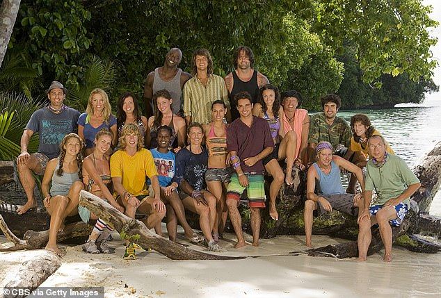 Fairplay made a name for himself by appear on Survivor: Pearl Islands in 2003 (pictured front row, second from the right)