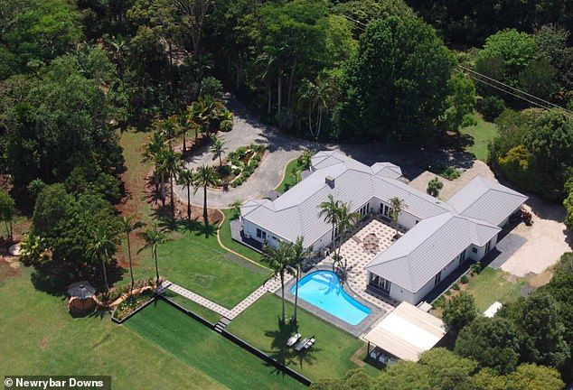 Lavish: Liam's new pad is complete with five bedrooms, four bathrooms, manicured grounds, a swimming pool, a place for lawn bowls, and a detached entertainment pavilion, Realestate.com.au reports