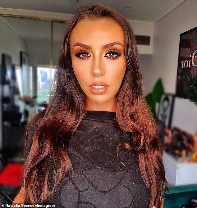 The way she was: The financial analyst, 27, has swapped her glossy brunette hair (pictured) for a longer, blonde style, eight months after starring in Nine's social experiment