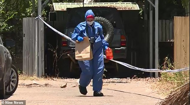Forensic officers spent the day at the scene collecting evidence