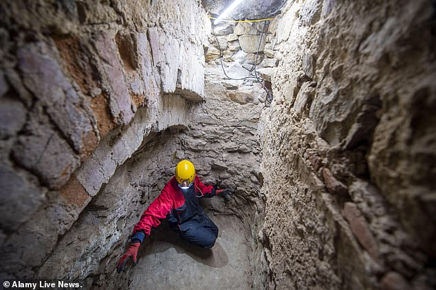 The hidden treasury room, according to experts, was used to conceal rare artifacts from raids by Hussite troops in the early 15th century