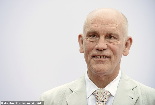 Work harder: After losing his nearly $50M fortune in the 2008 Madoff scheme a very cool Malkovich said, 'I had to do more work that paid for a number of years, and work all the time,' while adding, 'it reconnected me to how most people live all the time'; pictured 2019