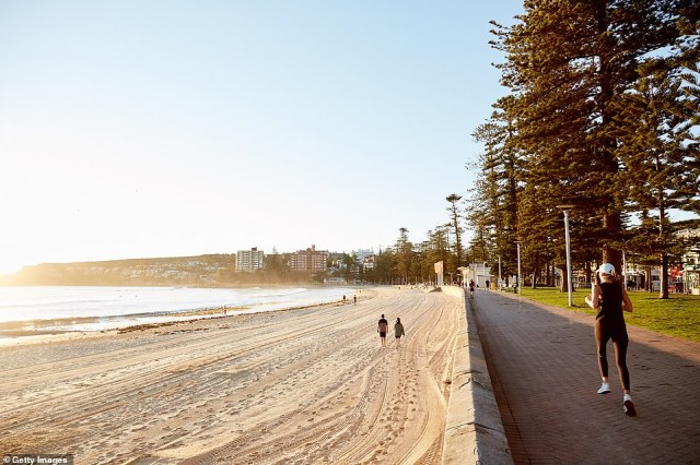 Manly beach was almost deserted on Wednesday morning as the Northern Beaches area endured its final day of lockdown before Christmas