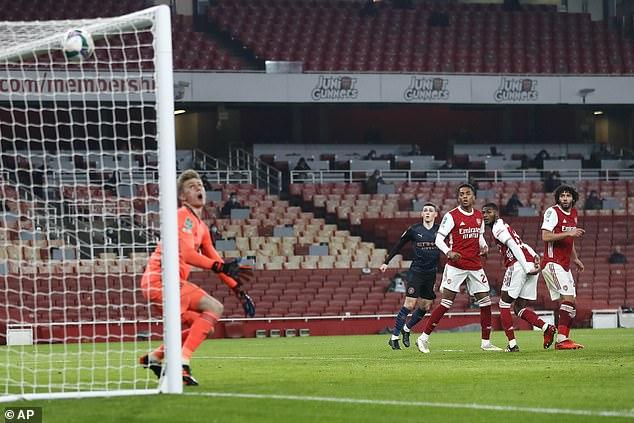 Arsenal fell behind after the break whenAlex Runarsson let Riyad Mahrez's shot slip through