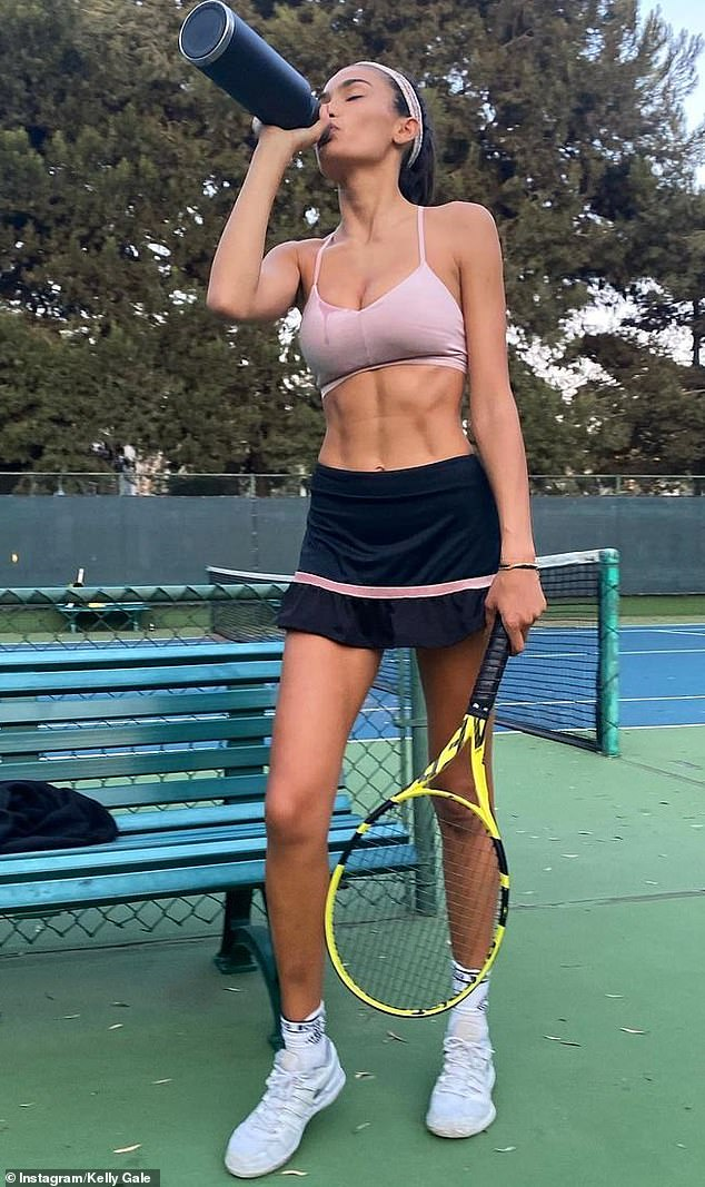 Game, set, match! Last month, the model took hit the courts and told Instagram fans she counts Tennis as her 'favourite sport.'
