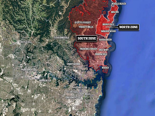 The Northern Beaches is being split into two sections at the Narrabeen Bridge, with those in the northern section where the cluster is centred suffering harsher Christmas restrictions than those in the south