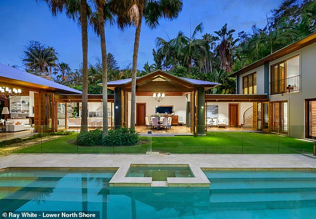 Anthony Walls, a director of boutique real estate consultancy Max Walls International, said buyers were prepared to pay up to $40million for a house on Sydney's Lower North Shore or Northern Beaches. Pictured is a house at Palm Beach which sold for $24million in February