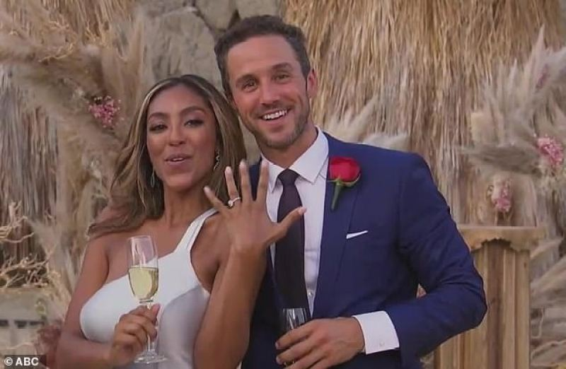 The Bachelorette: Tayshia Adams accepts marriage proposal from Zac Clark  during season 16 finale | Daily Mail Online