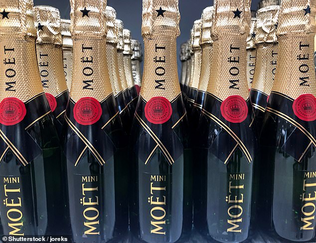 Moët suffers from the opposite problem to croissant, with many dropping the T, believing it's silent. Stock image
