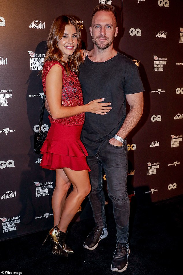 Over: Lauren confirmed her split from her estranged media producer husband Lachlan Spark in December 2018. The couple had married in 2017 after six years of dating