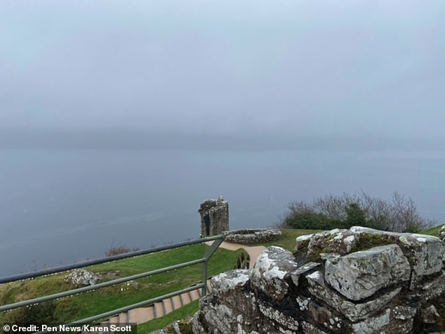 The photos were taken by Miss Scott on November 24 at approximately this location, near Urquhart Castle. Her images have been recorded as a positive Nessie sighting by the Official Loch Ness Monster Sightings Register