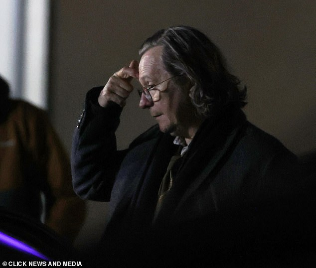 Action!Gary Oldman has finally started work on his first major TV role, shooting scenes for his new Apple TV project Slow Horses on Monday in London
