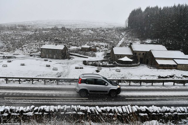 A picturesque wintery scene in County Durham this morning as a blanket of snow fell over the county overnight