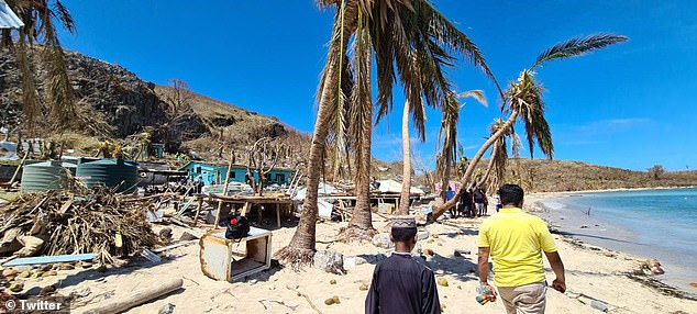 Destruction On Kia Island and across the North of Fiji after Destruction On Kia Island and across the North of Fiji after Tropical Cyclone Yasa tore through
