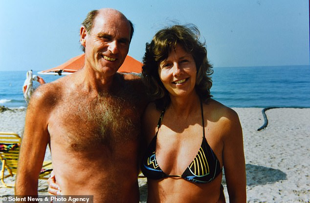 Retired legal secretary Jo died when she was 75 and the couple had been married for 36 years. The loved-up pair on holiday in Barbados in 1986