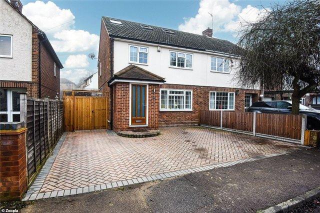 Bishops Stortford: Buyers can snap up this five bedroom semi-detached home inBishops Stortford for £500,000